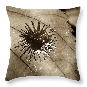 Bleeding Heart Throw Pillow by Empty Wall