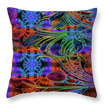 Bleeding Rainbow Throw Pillow by Clayton Bruster