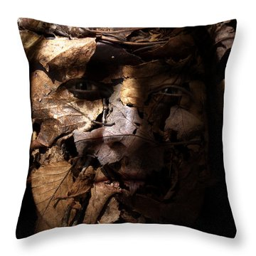 Blending In Throw Pillow by Christopher Gaston