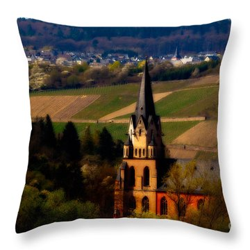 Blessed Vineyard Throw Pillow