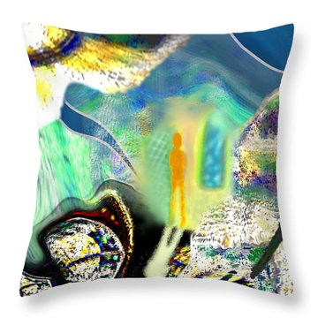 Bliss And Beyond Throw Pillow by Mathilde Vhargon