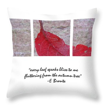 Bliss Throw Pillow by Traci Cottingham