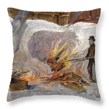 Blizzard Of 1888, Nyc Throw Pillow by Granger