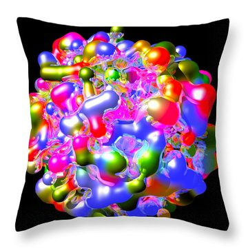 Throw Pillow featuring the digital art Blob Of Color... by Tim Fillingim