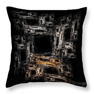 Block Abstract On Black                 Throw Pillow