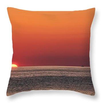 Block Island Sunrise Throw Pillow by William Jobes