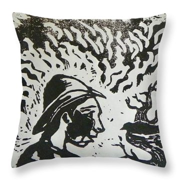 Block Print Detail Throw Pillow by Thor Senior