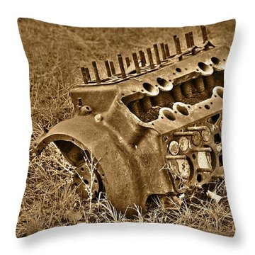 Blocked Out Throw Pillow by Shane Bechler