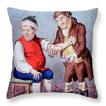 Bloodletting-1804 Throw Pillow by Science Source