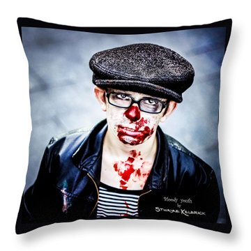 Throw Pillow featuring the photograph Bloody Youth by Stwayne Keubrick