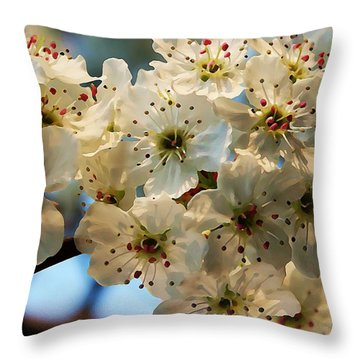 Throw Pillow featuring the painting Bloom  by Steven Lebron Langston