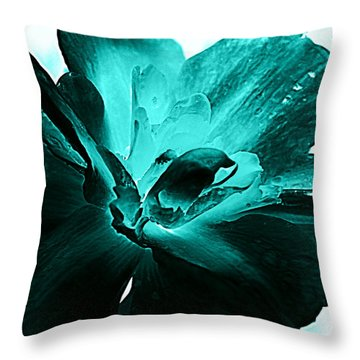 Blooming Blue Throw Pillow