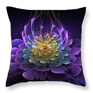 Blooming Essence Throw Pillow