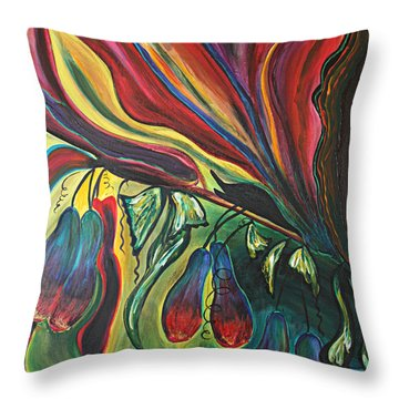 Blooming Expressions... Throw Pillow