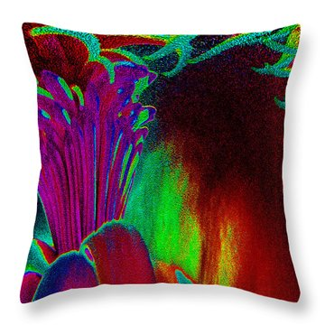 Blooming In The Dark Throw Pillow