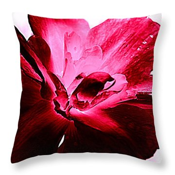 Blooming Pink Throw Pillow