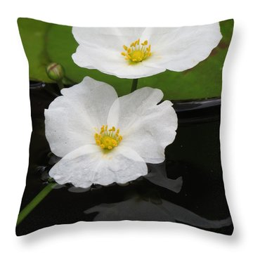 Blossom Reflection Throw Pillow by Darleen Stry