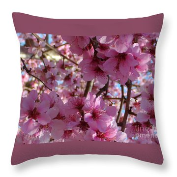 Throw Pillow featuring the photograph Blossoms by Lydia Holly