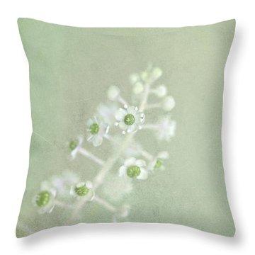 Blossoms Unfolding Throw Pillow