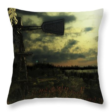 Blowing In The Wind Throw Pillow by Kelly Rader