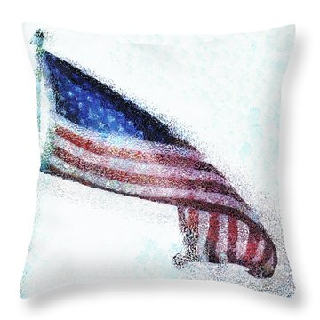 Blowing In The Wind Throw Pillow by Steve Taylor