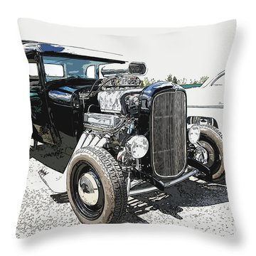 Blown Coupe Throw Pillow by Steve McKinzie