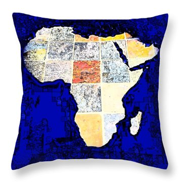 Throw Pillow featuring the photograph Blue Africa by Anne Mott