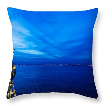 Blue At Sea Throw Pillow