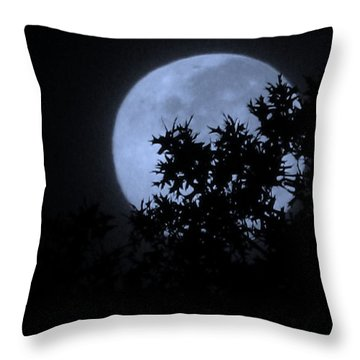 Blue August Throw Pillow by Greg Patzer