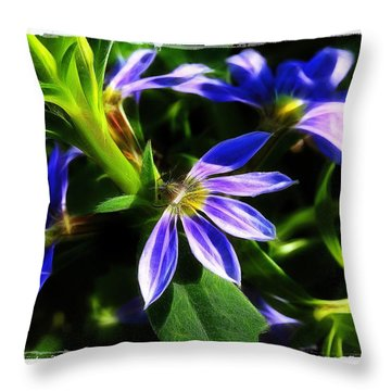 Throw Pillow featuring the photograph Blue Ballet by Judi Bagwell