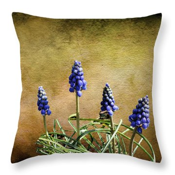 Throw Pillow featuring the photograph Blue Bells by Rick Friedle