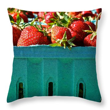 Blue Box Throw Pillow by Susan Herber