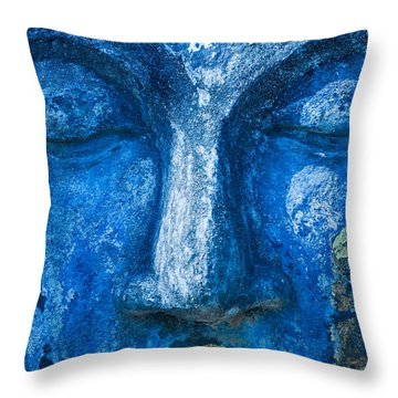 Throw Pillow featuring the photograph Blue Buddha  by Luciano Mortula
