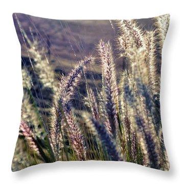 Throw Pillow featuring the photograph Blue Buffalo Grass by Werner Lehmann