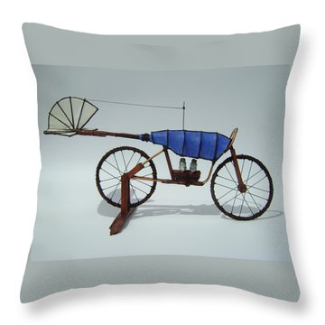 Blue Caravan Throw Pillow