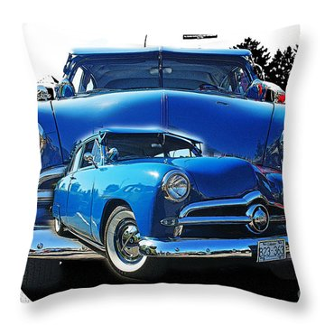 Blue Classic Dbl.hdr Throw Pillow by Randy Harris