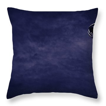 Blue Coming Down Throw Pillow