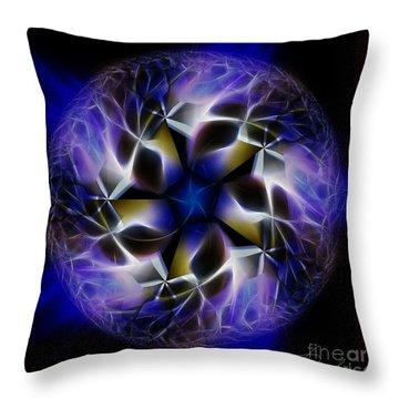 Blue Creation Throw Pillow