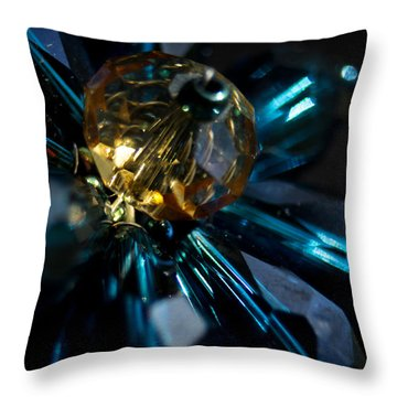Blue Dazzle Throw Pillow