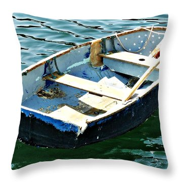 Blue Dory Throw Pillow by Joe Faherty