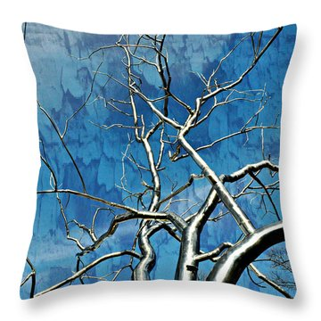 Blue Dream Throw Pillow by Marty Koch