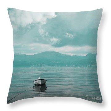 Blue Fjord Throw Pillow