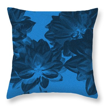 Blue Flower Art Throw Pillow by Aimee L Maher Photography and Art Visit ALMGallerydotcom