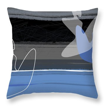Blue Girls Throw Pillow