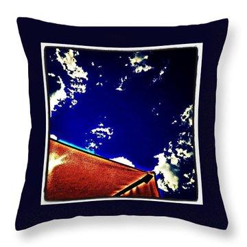 Blue Heat Throw Pillow