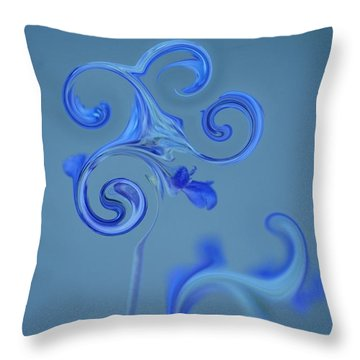 Throw Pillow featuring the photograph Blue Heaven by Donna Bentley