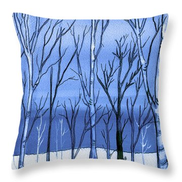 Blue Interlude Throw Pillow