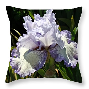 Throw Pillow featuring the photograph Blue Iris by Nick Kloepping