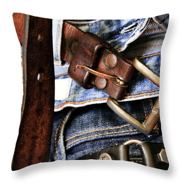 Blue Jeans Throw Pillow by Stelios Kleanthous