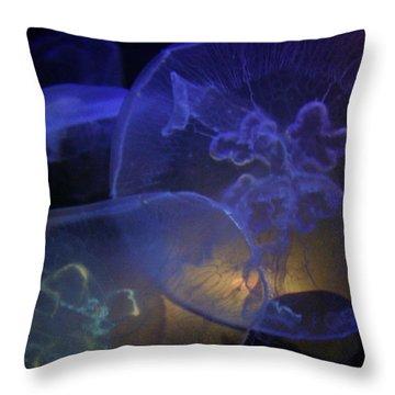Blue Jelly Dream Throw Pillow